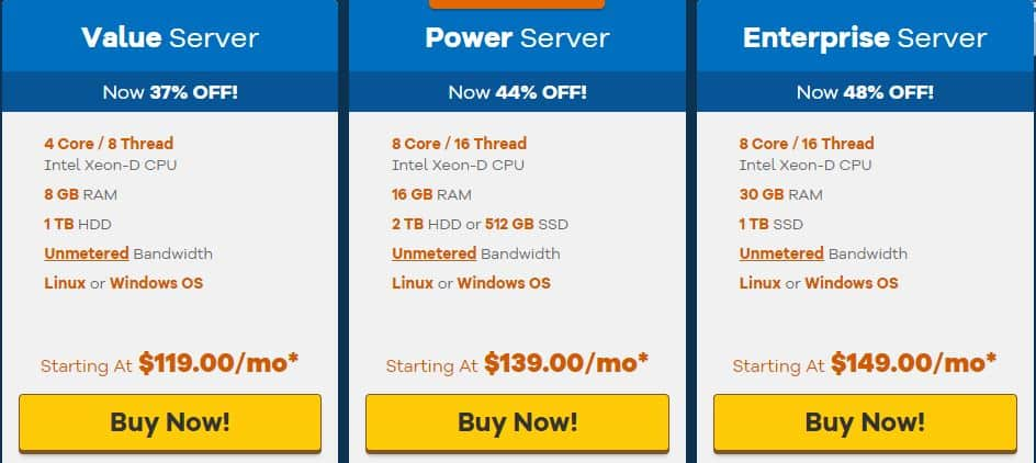 HostGator Dedicated Server Plans