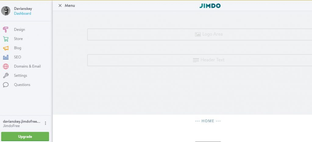 Jimdo's Dashboard
