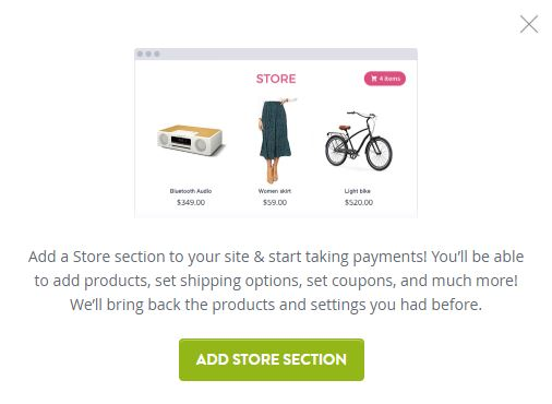 Adding eCommerce store with Strikingly