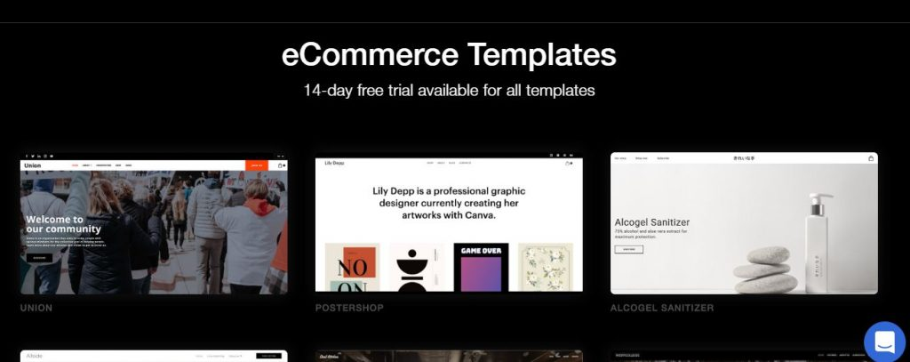Ucraft's eCommerce Templates