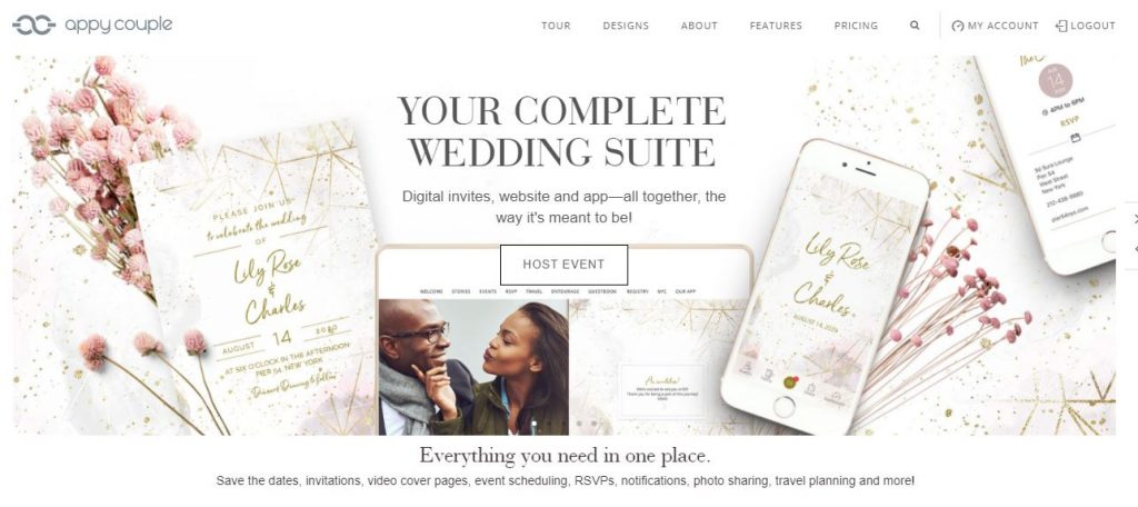 Appy Couple Website Builder Homepage